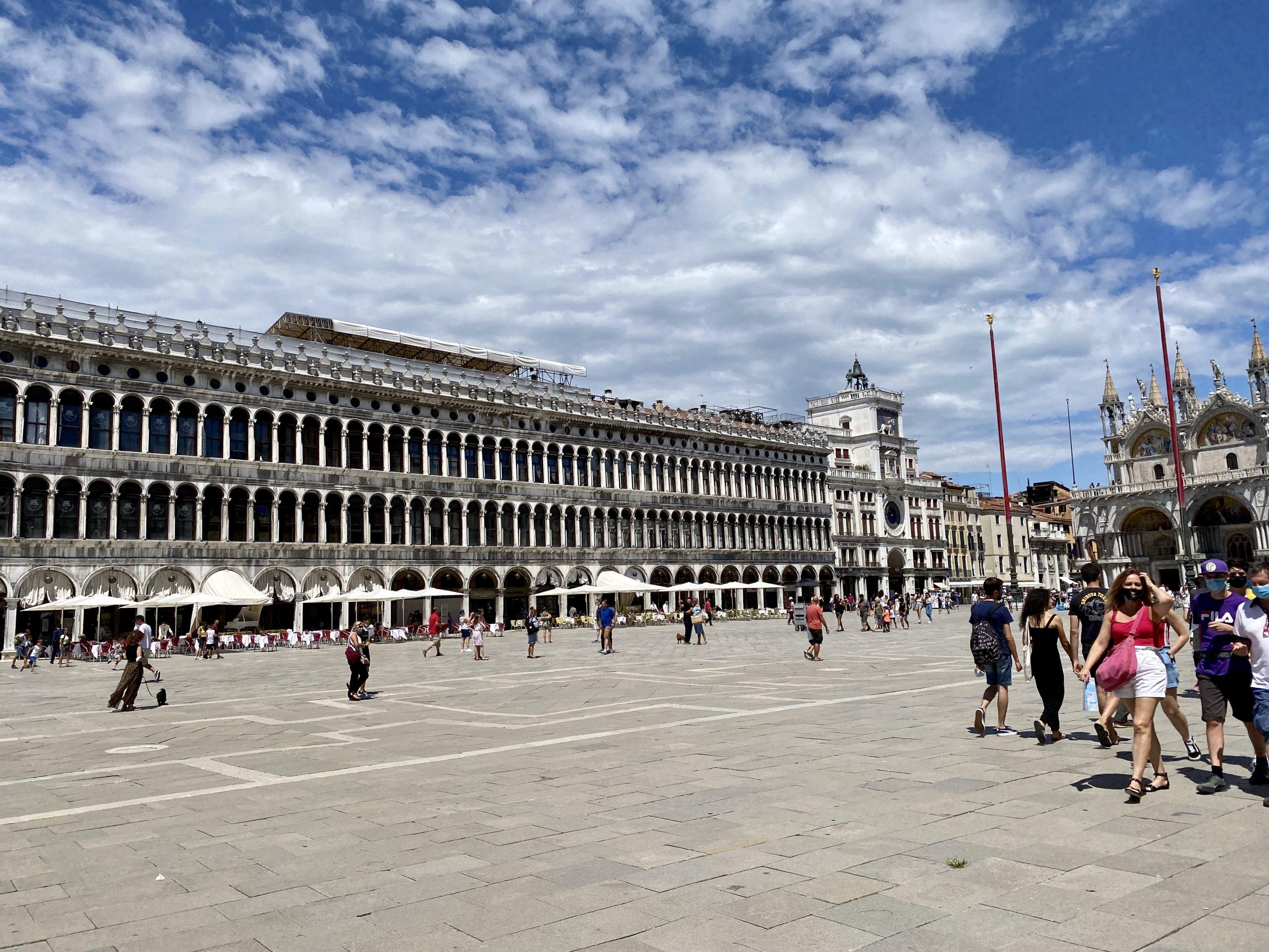 Venedig - Markusplatz zu Coronazeiten